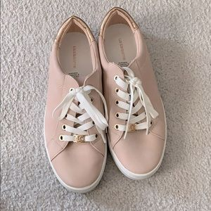 Dusty pink rose gold dressy sneakers